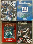 New York Giants Nfl Football 32 Official Team Yearbooks 1986-2017 W/ Autographs