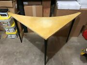 Vintage Space Age Corner Table Accent Desk Atomic Mid Century Furniture 1950and039s
