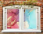 3d Texture 1923nao Window Film Print Sticker Cling Stained Glass Uv Block Fa