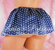 Sissy Satin Mini Slip Skirts Patriotic Print Pink Solids And Florals Coming