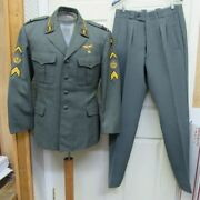 Swiss Uniform Tunic Trousers Pants Air Force W Insignia Patches Rank Switzerland