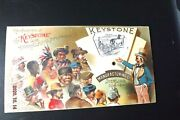 Victorian Mechanical Trade Card Keystone Manufacturers - Uncle Sam 1890's
