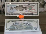 Silver Crappie Banknote Fishing Lures Jig Currency Bait Tail Hook Plastics Perch