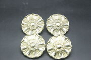 Set Of 4 Keeler Brass Company Cabibet Knob/ Draw Pull Floral A7559 Nos Mcm