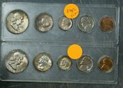 1957 Us Mint Set In Plastic Holders Brilliant Uncirculated Toned 10 Coins Total