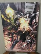 Marvel Canvas Giclee - Heroes For Hire - Limited Edition Coa