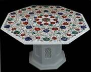 42 Marble Table Top Stone Pietra Dura Handmade Work With Marble Stand