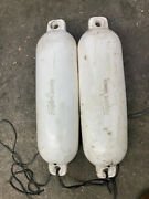 Lot Of 2 Taylor Made Marine Boat Fenders White Color
