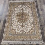 Yilong 4and039x6and039 Handmade Silk Carpet Home Interior Easy To Clean Oriental Rug Y85b
