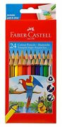 Fabercastell Triangular Colourpencils Pack Of 24 For Drawing And Educational Use