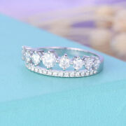 Womenand039s 1.00 Ct Real Diamond Wedding Eternity Band For 18k White Gold Size 5 7.5