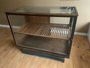 Antique Humidor Showcase Cabinet 1920and039s Cigar Case
