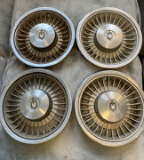 """Lot Of 4 - Vintage Rare 1972 Chevrolet Chevy Monte Carlo 15"""" Hubcaps Wheel Cover"""