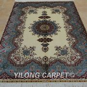 Yilong 4'x6' Handknotted Silk Area Rug Oriental Durable Home Decor Carpet 0695