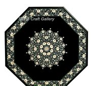 42 Marble Center Dining Table Top Pietra Dura Inlay Handmade Floral Work Decor