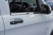 Chrome Side Door Window Sill Trim Set Covers To Fit Mercedes-benz Vito 2015