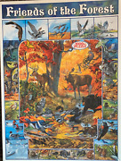 Friends Of The Forest 1000 Piece Puzzle, By White Mountain - Autumn Wildlife