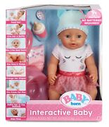 Baby Born Doll With Accessories And Potty Interactive Baby
