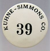 Vintage Kuhne-simmons Co. Illinois Employee Badge 1.5 Pinback Button