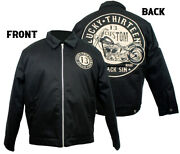 Lucky 13 Jacket Lined Work Mechanic Embroidered Black Sin Large Motorcycle