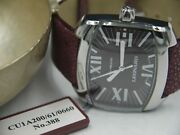 Leonard Curve Automatic Stainless Steel And Leather Watch Brown Dial New In Box