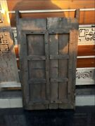 1800and039s Antique Wood Hand Crafted Iron Work Old House Castle 43 X 24and039and039 Door Panel