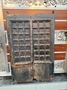 Ancient Wooden Hand Crafted Iron Work Old House Castle 41 X 26'' Window Door