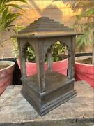 Antique Old Wooden Pyramid Style Jharokha Design Beautiful Open Temple Rare Rack