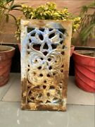 1700's Antique Stone Carved Floral Mughal Period Window Bracket Panel 18 X 9.5''