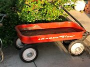 Vintage Radio Flyer Red Wagon 1960and039s Outdoor Toy Decor Pick Up Only Rochester Ny