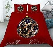3d Ball Pattern Red O309 Christmas Quilt Duvet Cover Xmas Bed Pillowcases Fay
