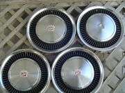 1974 1975 Cadillac Deville Fleetwood Hubcaps Wheel Covers Center Caps Vintage