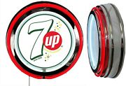 7 Up With Bubbles White Sign Neon Sign Red Neon No Clock Man Cave Garage