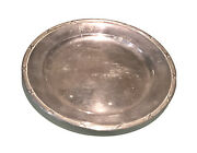 Vintage Antique Prima Swedish Silver Engraved Hammered Round Plate Dish Tray Old