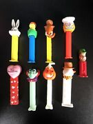 Pez Dispensers - Lot Of 9 - Vintage/ Current- Bugs, Ice Age, Lucky Charms, Garf