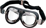 Emgo Contoured Lens Roadhawk Leather Goggles Street Touring Motorcycle 76-50142