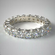 Solid 18k White Gold Ring 2 Carat Real Diamond Womenand039s Eternity Band Size 5 7 8