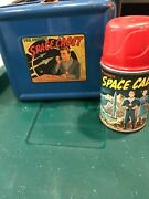 Vintage 1952 Tom Corbett Space Cadet Metal Lunch Box And Thermos