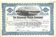 The Katharine Water Company....1918 Common Stock Certificate