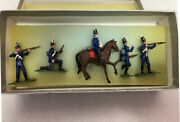 Vintage Set Of 5 American Painted Lead Soldiers For War Of 1812 In Original Box