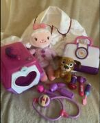 """Disney Doc Mcstuffins Doctor Kit, 13"""" Light Up Lambie , Puppy And Carrier"""