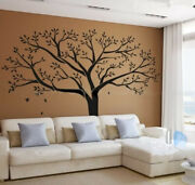 Large Life Tree Wall Stickers Home Decor Black Mural Vinyl Decor Black 99and039and039x79and039and039