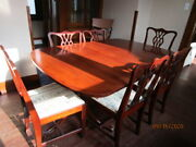 Vintage 1950and039s Brickwede And039duncan Phyfeand039 Style Mahogany Dining Table And Chairs