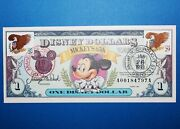 1993 A Series 1 Disney Dollar Mickey Mouse 65th Birthday Rare Usa Double Stamp