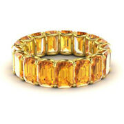 Real 14kt Yellow Gold 3.4 Ct Natural Diamond Citrine Gemstone Rings Size 4 5