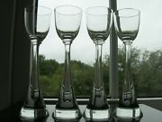 Irice - Four Flight - Elongated Bubble Crystal Cordial Glasses