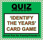 And039identify The Yearsandrsquo Pub Quiz Trivia Card Game Zoom Fun Families/friends