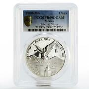Mexico 1 Oz Winged Victory Pr-69 Pcgs Proof Silver Coin 2000
