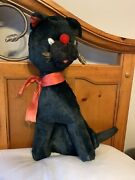 Laverne And Shirley Boo Boo Kitty 24andrdquo Black Cat Stuffed Animal Toy Tv Vintage Vtg