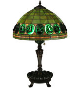 Style Turtleback Lamp W Green Stained Glass Lamp Shade